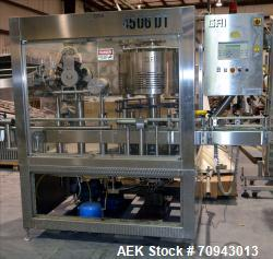 Used- GAI 6 Head Wine Capsule Placer and Shrink Capper, sn AB14000, mfg 2004