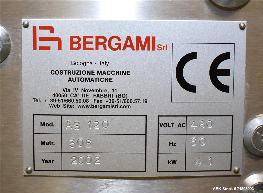Bergami Horizontal Intermittent Motion Cartoner, Model AS 120