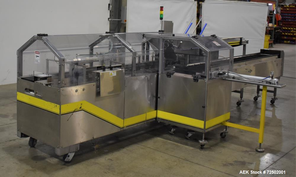 """Used-Econocorp Spartan 8263 Automatic Horizontal Glue Cartoner. Capable of speeds up to 30-50 cartons per minute. Has 12"""" ce..."""
