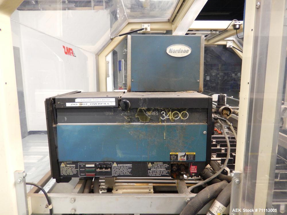 Used- FMS Serpa Model 2100 MIAL Automatic Horizontal Glue Cartoner.