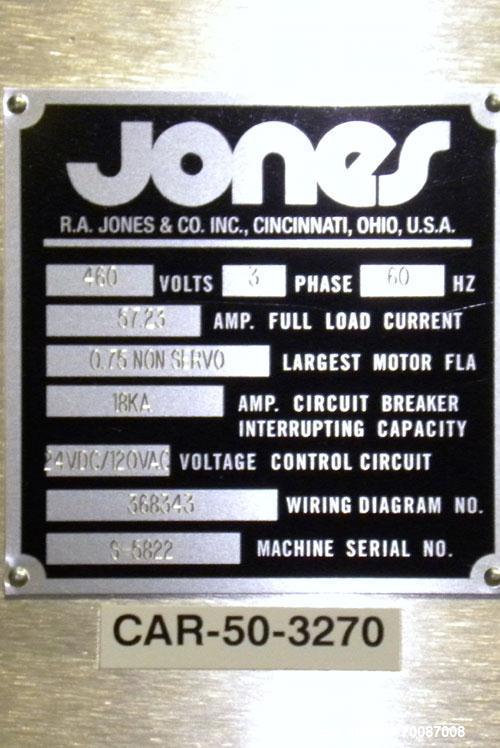 Used- Jones Criterion 2000 Automatic Intermittent Motion Horizontal Cartoner