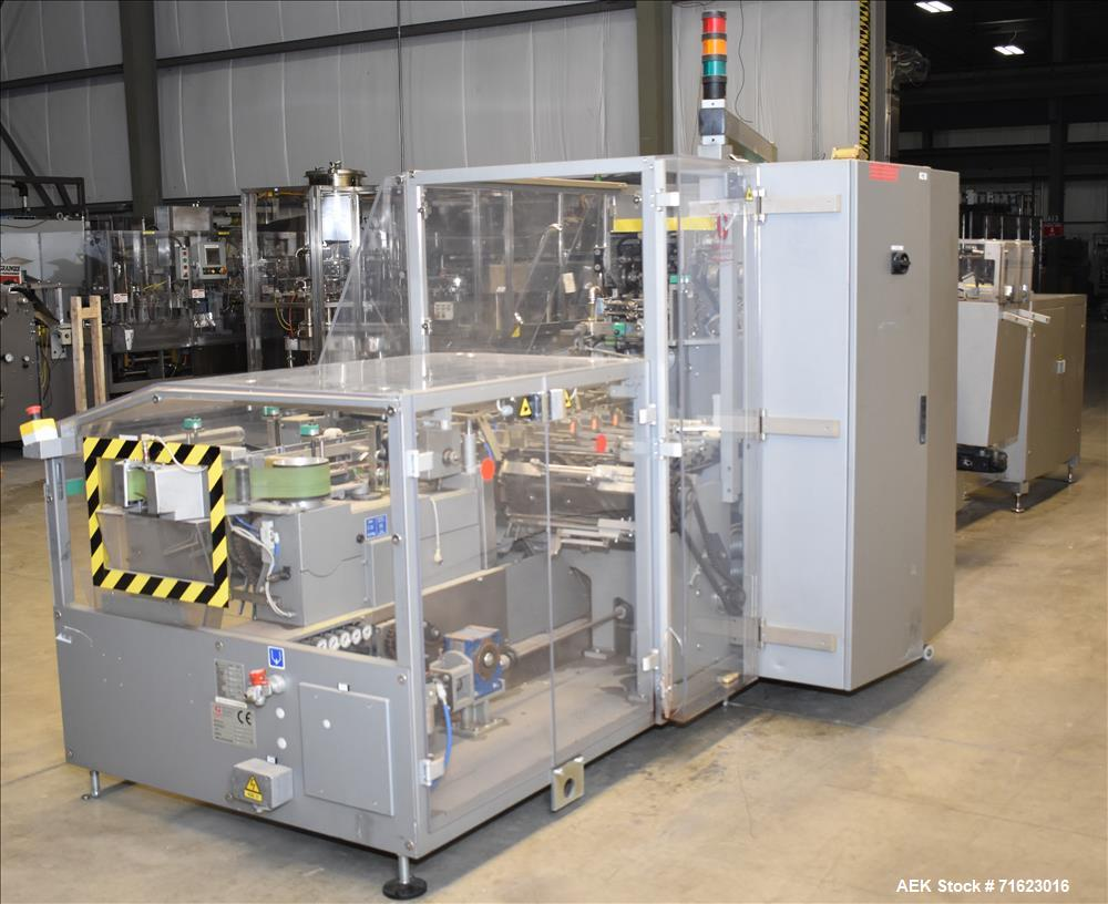 "Used- Marchesini Model MA 305 Horizontal Blisterpack Cartoner. Capable of speeds up to 240 cartons per minute. Has 5"" center..."