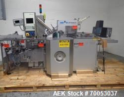 Used Uhlmann horizontal cartoner, model C130, speeds up to 150/minute, Blister pack infeed, 100 mm x...