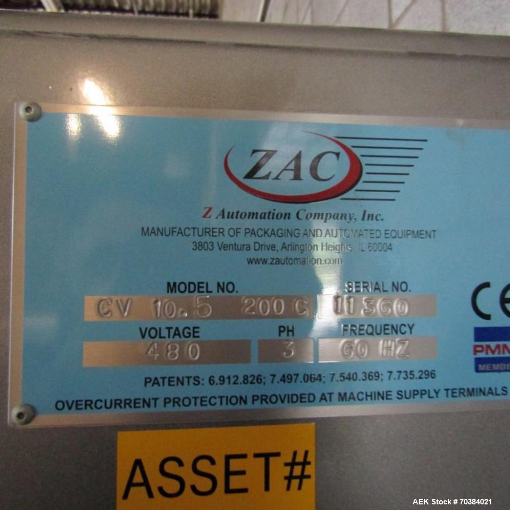 Used- ZAC Packaging CV10.5 200 C Cartoner