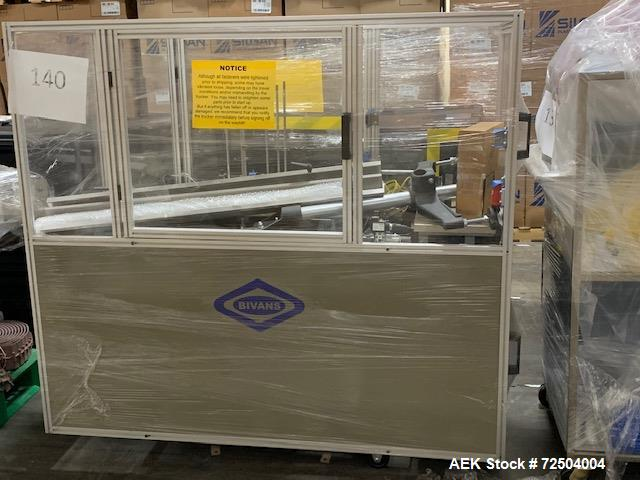 Used: Bivans Model 54L Semi Automatic Vertical Cartoner (carton former and bottom sealer). Capable of speeds up to 60 carton...