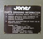 Used- Jones Semi Automatic Continuous Motion Vertical Glue Cartoner, Model CMV5