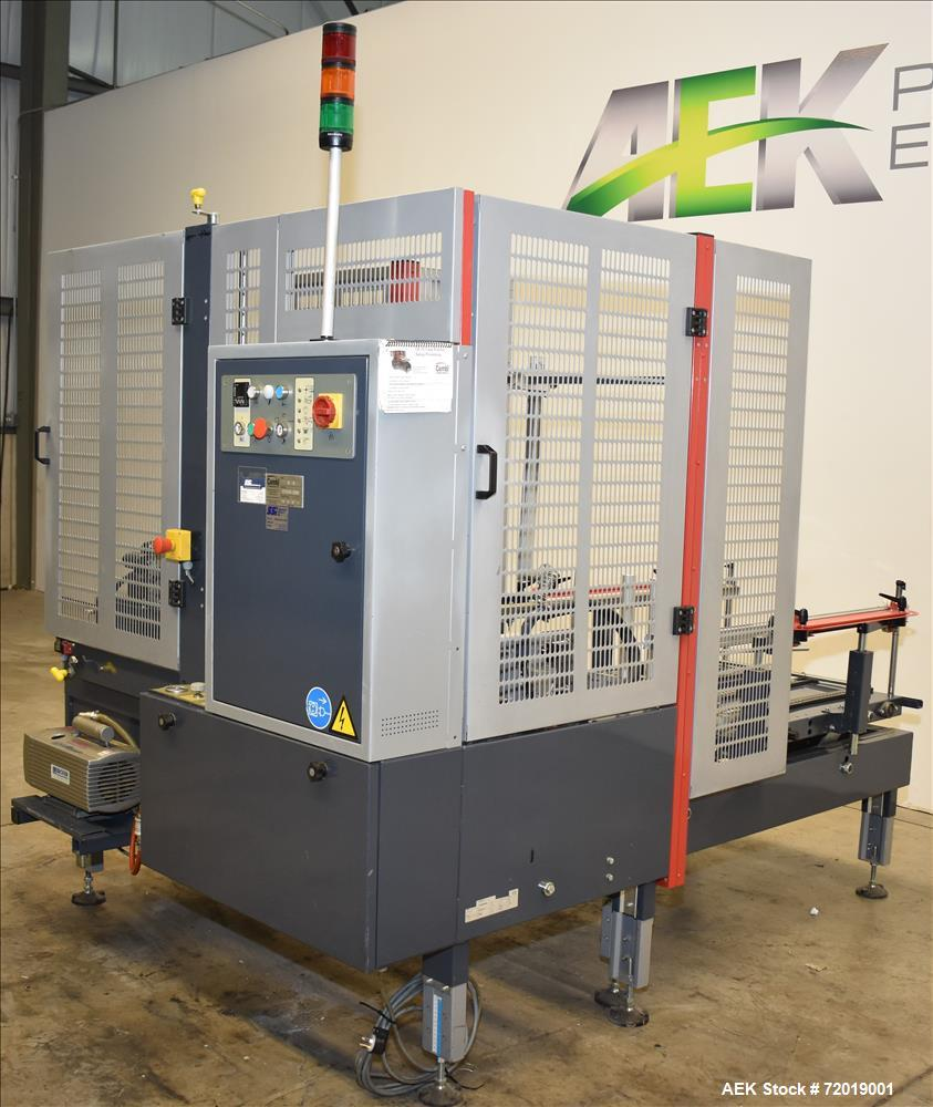 Used- Combi Packaging System CE-10 Case Erector with Bottom Case Tape Sealer.