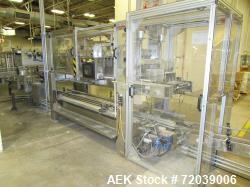 Akron Model ACP fully automatic drop packer has a maximum speed of up 30 cases per minute. Has a cas...