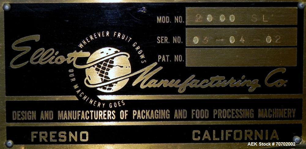 Used- Elliott Model 2000 SL Automatic Case Packer