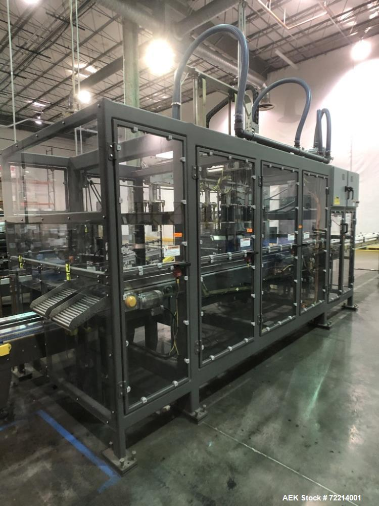 Used- Pearson Model GTLU Automatic Pck and Place Robotic Top Load Case Packer.