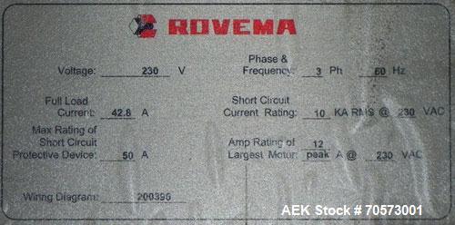 Used- Rovema Model ELD643 Vertical Top Load Packer