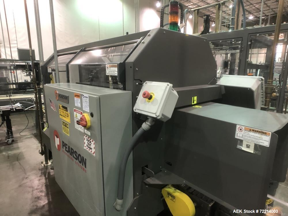 Used- Pearson Model CS25-G Automatic Hot Melt Top Case Sealer.