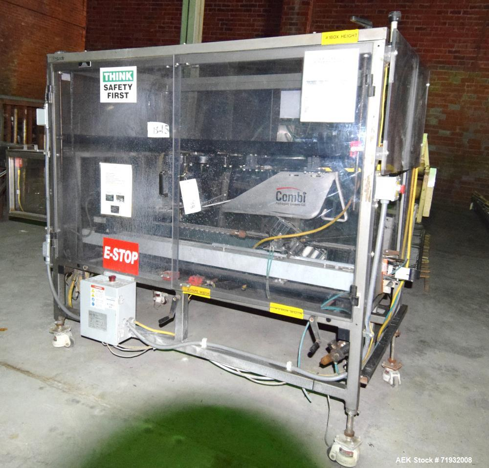 Used- Combi TBS Automatic Top & Bottom Case Sealer. Capable of speeds up to 30 cases per minute. Case size range: (length) 4...