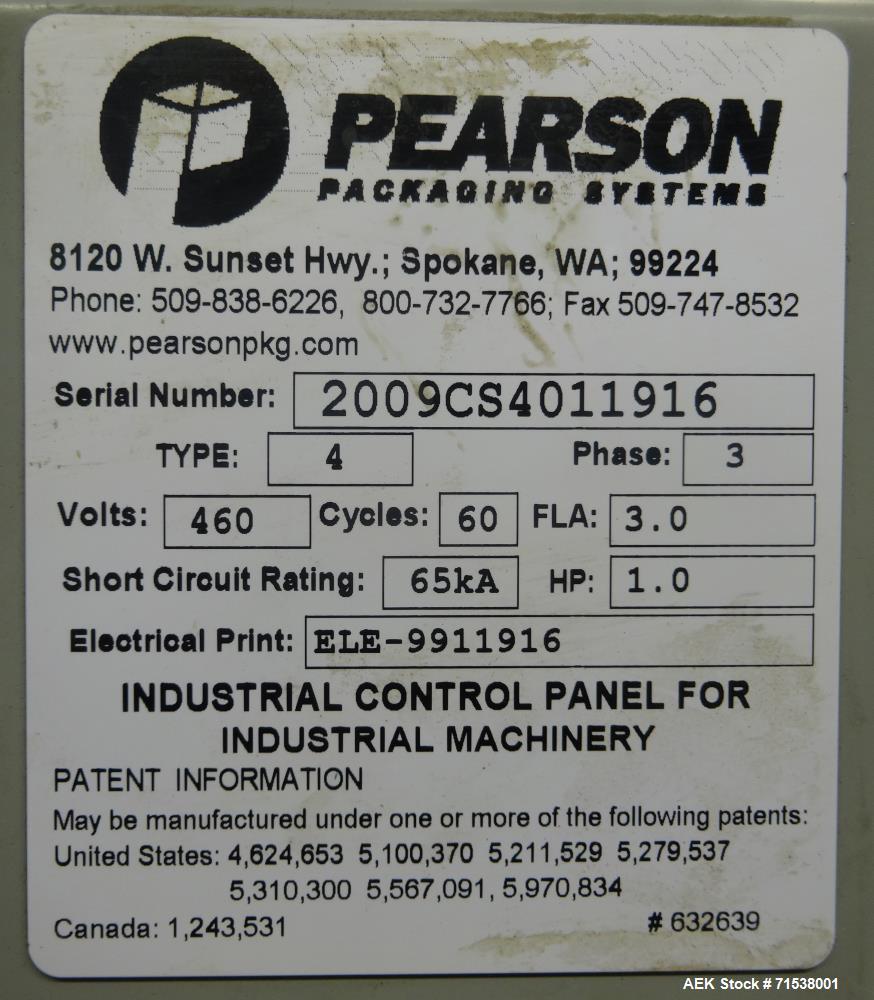 Used- Pearson Model CS40-T Case Sealer