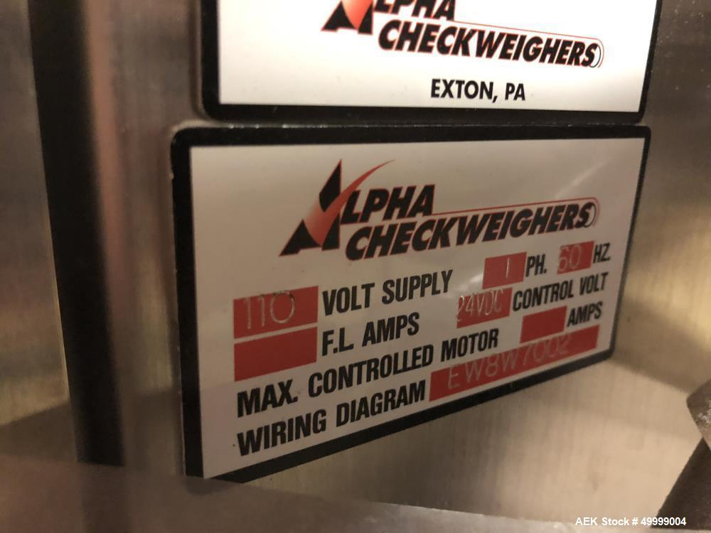 Used- Alpha Checkweigher Table Top Belt Checkweigher