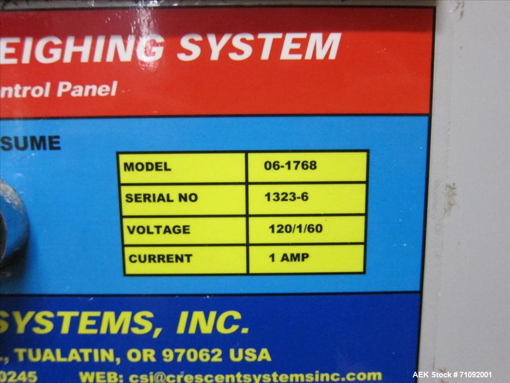 Used- Cresent Systems Box Weighting System, Model 06-1768
