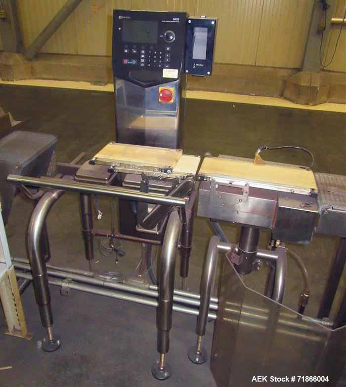 Used- Ishida Model DACS-G-S015-13/SS-I-S Automatic Belt Checkweigher.