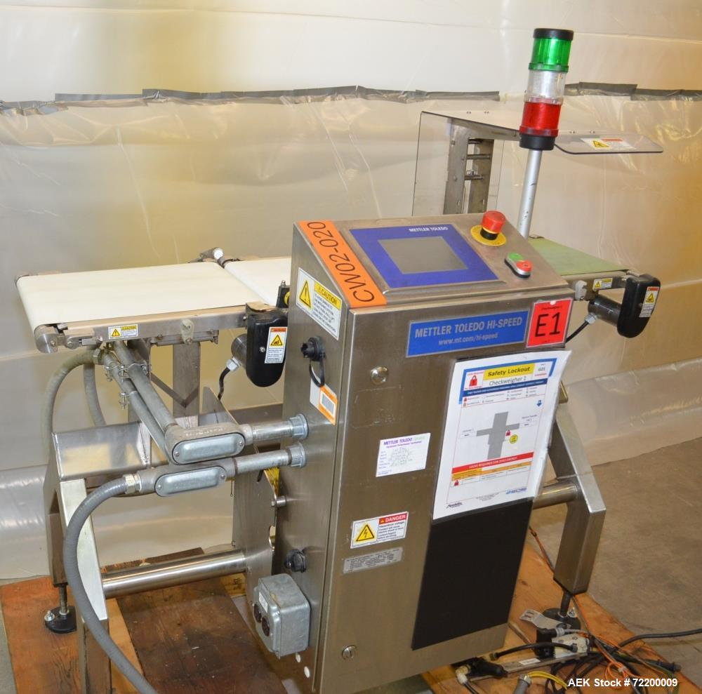 Used- Mettler Toledo Hi Speed Checkweigher, Model Beltweigh XC