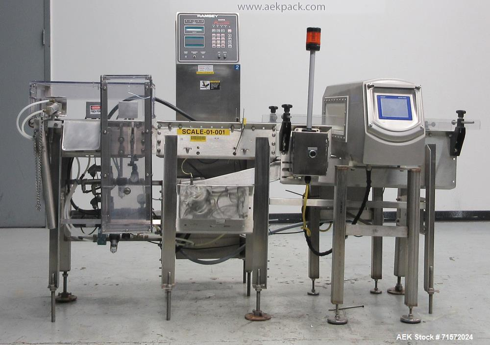 Used- Safeline R Series Power Phase Pro Metal Detector and Icore Checkweigher