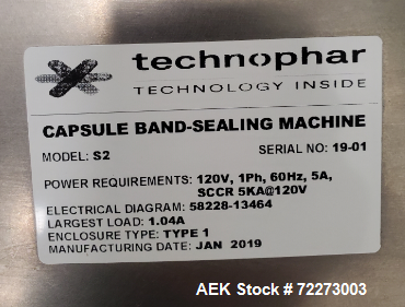 Used- Technophar Bench-Top Capsule Band Sealing Machine