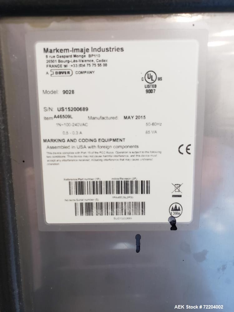 Used- Markem Coder, Model 9028.