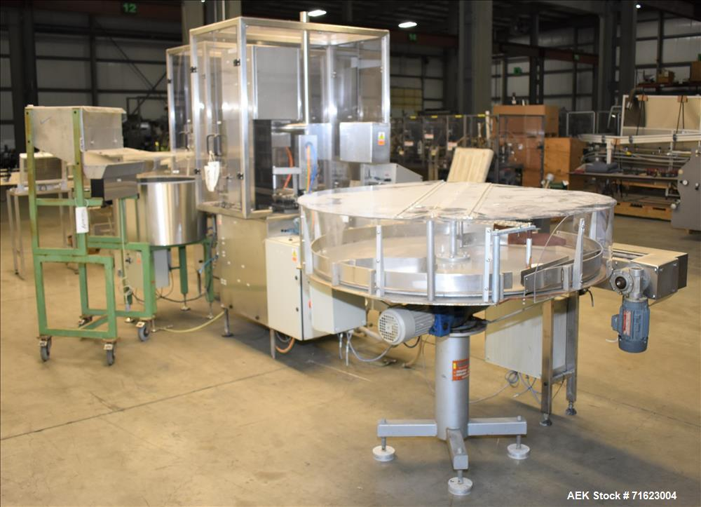 Used- Flexicon Liquid Filling Line For 30ml Glass Bottles with Dropper Style Cap