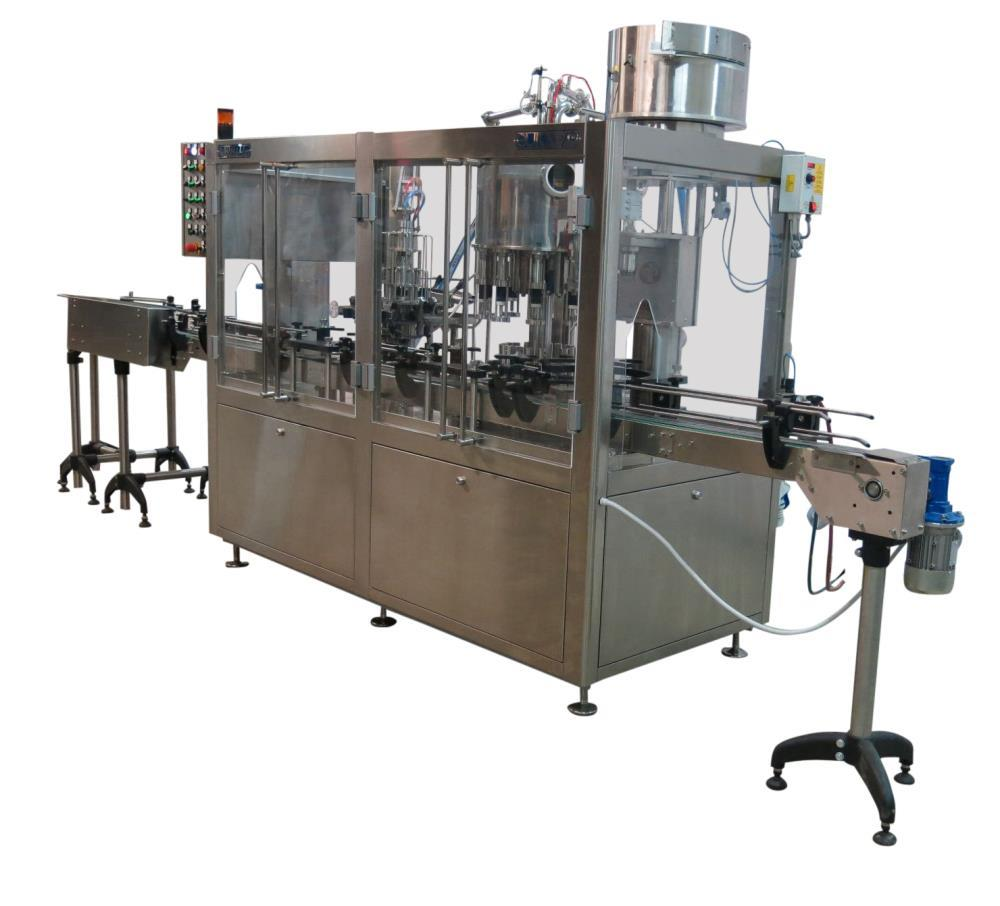 Used- Borelli Bottling Line, Model KA910VO.
