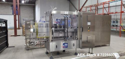 "Used- CFT ""Master Tronic RS 12/12/3"" Triblock Glass Bottle Filling Line"