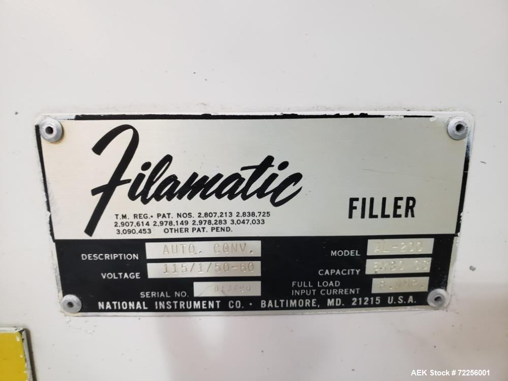 Used- Filamatic Filling Line