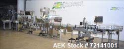 Used- Inline Filling Systems Complete Positive Displacement Piston Filling Line.