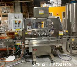 Used-Kapsall filling line with Kapsall Filler model FA-PG-E, Kapsall capper model A6 and interconnecting conveyor.