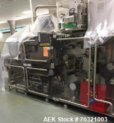 Used- Bosch Blister Machine, Model TLT 1400 S. Unit can produce speeds up to 300 blisters per minute. Blister width from 30 ...