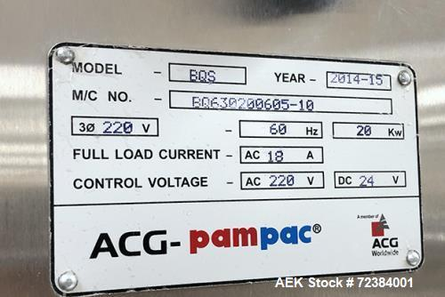 Used- ACG-Pampac Blister Pack Line