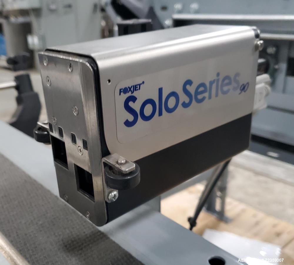 "Used- Belt Conveyor with Foxjet Thermal Inkjet Printer / Case Coder. Belt approximately 78"" wide x 12"" long. Includes Foxjet..."