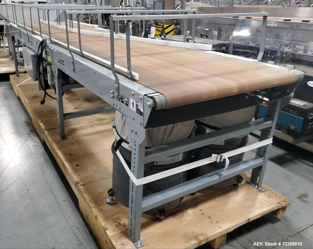 "Used- Belt Conveyor. Approximate 36"" wide x 192"" long belt. Delta S1 controller. Belt driven by a 1 hp, 3/60/230/460 volt, 1..."