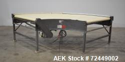 """Used- Portec 90 Degree Belt Conveyor, Model LC-3848. Belt approximate 49-1/2"""" wide. Driven by a Lesson washguard 1hp, 3/60/2..."""