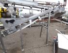 Used- Incline Belt Conveyor. Rubber belt approximate 12