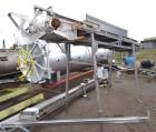 Used- Incline Belt Conveyor. Stainless steel wire mesh belt approximate 18