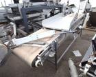 Used- Incline Belt Conveyor. Rubber belt approximate 24