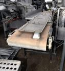 "Used- Incline Belt Conveyor. Rubber belt approximate 24"" wide x 120"" long. Approximate 46"" discharge height. Driven by a 1hp..."