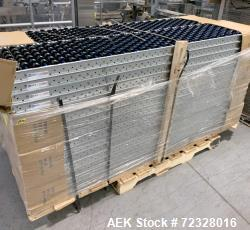 """d Skid of Wheeled Roller Conveyor. Approximate 32 pieces. Approximate 17-1/2"""" wide x 85"""" long x 2-1/..."""