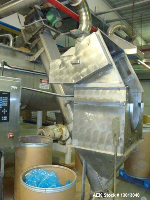 "Used-Stainless Auger Incline. Stainless steel product elevator for dry ingredients. The total Conveyor length is 10'2"". The ..."
