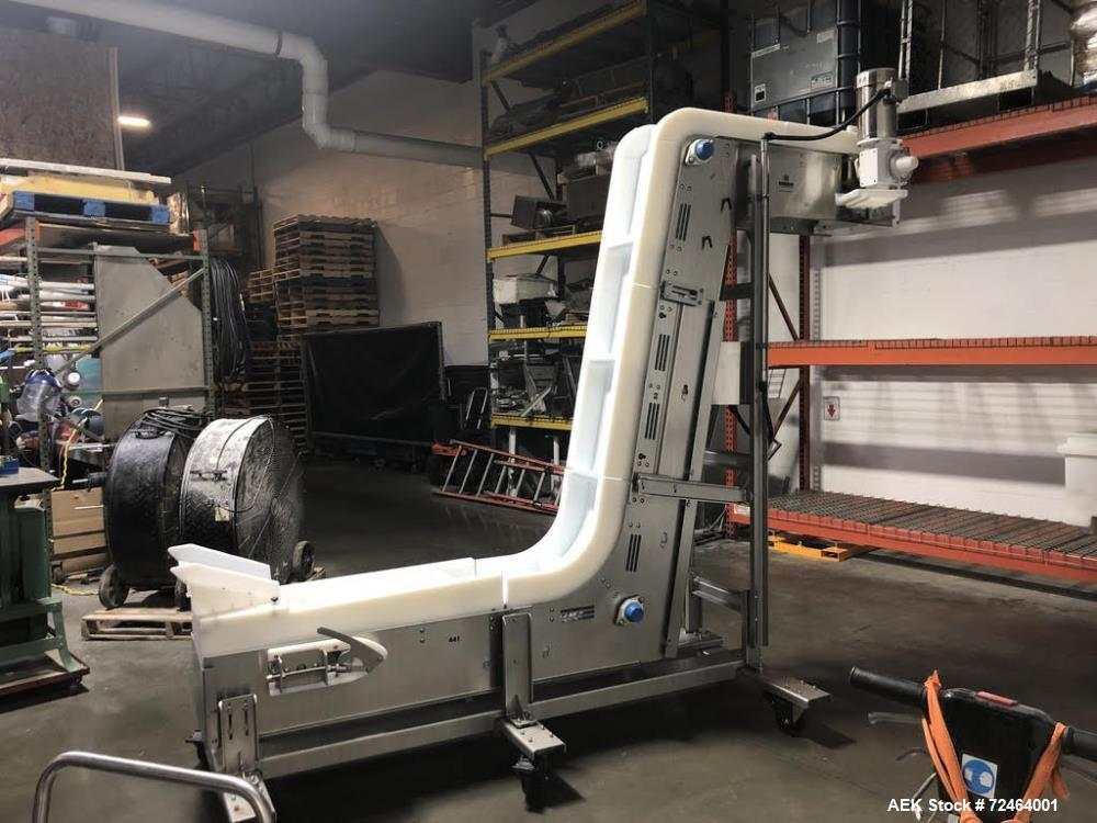 Used-Nercon Flighted Z-Incline Conveyor