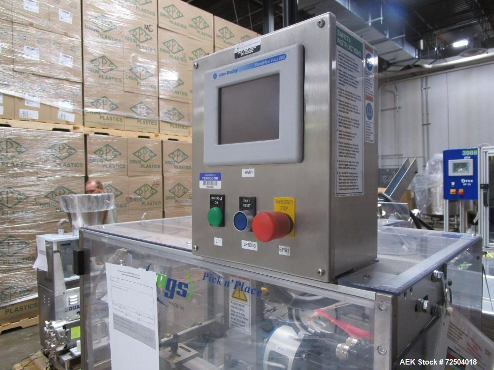 Used-MGS Model PHS Sideserter capable of speeds up to 250 outserts per minute. Has Nordson Problue hot melt glue system.