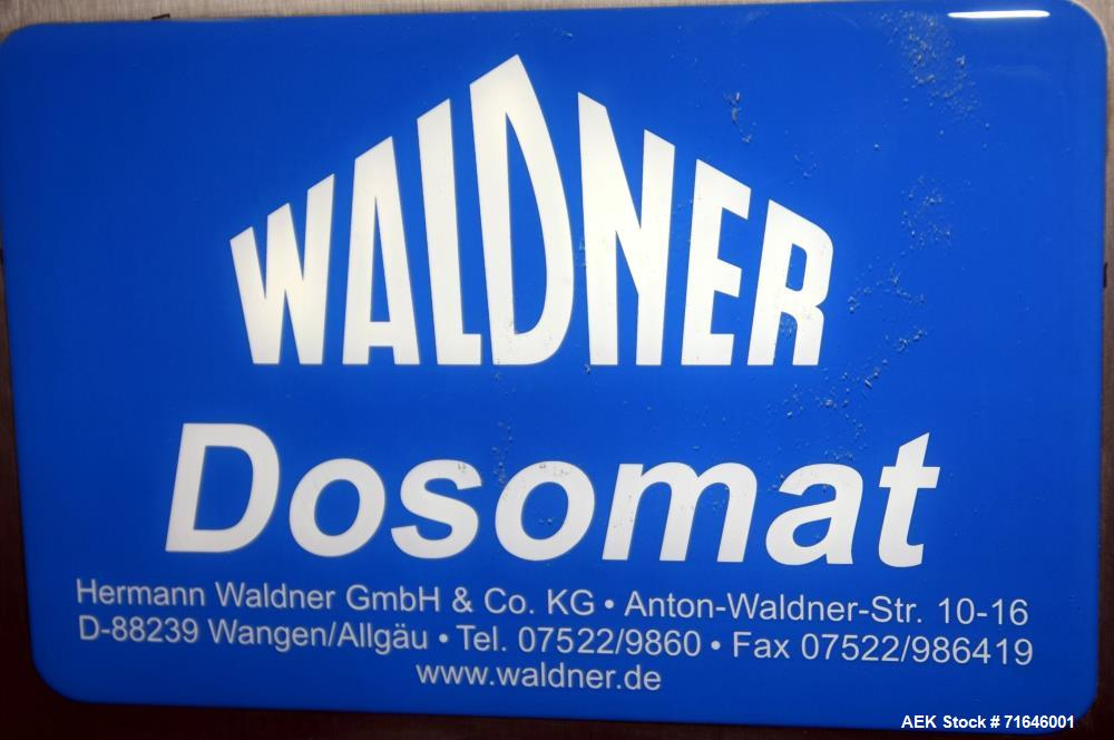 Unused- Waldner Dosomat Test Filler.