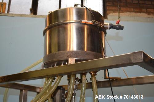 Used- ELF Model TG8 10-Head Inline Pressure Gravity Filler