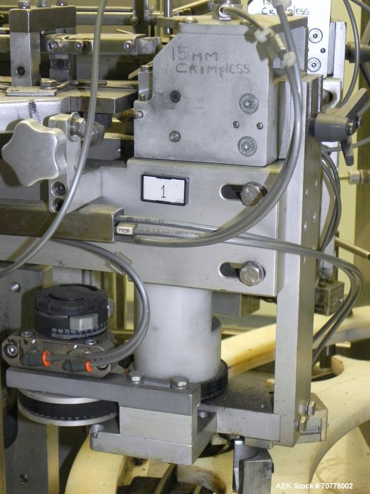 Used- OMAS Filling Line with  Pump Inserting, Crimping and Labeling line