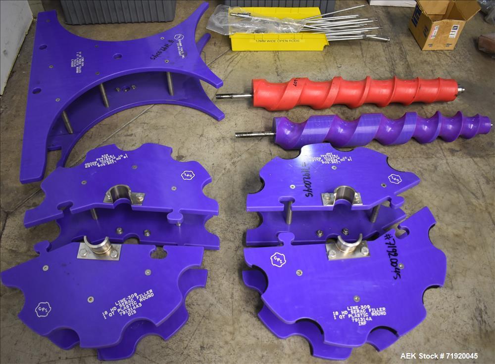 Used- Serac 18-head Rotary Net Weight Filler, Model R18/1080