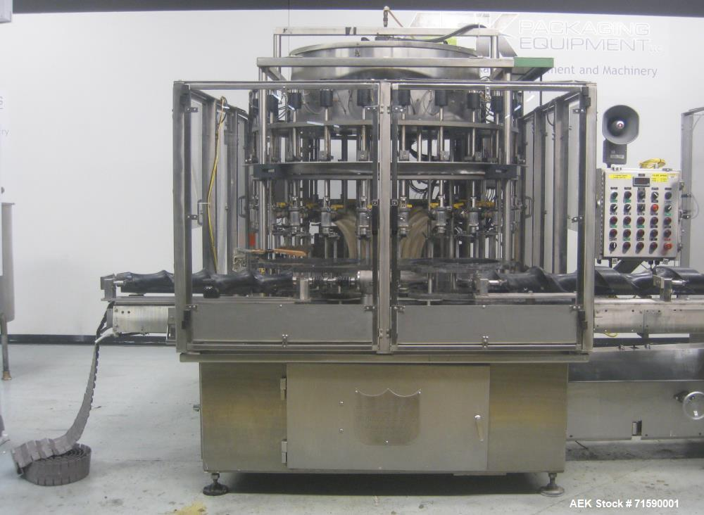 Used- US Bottlers Machinery Bottle Filling and Capping Line