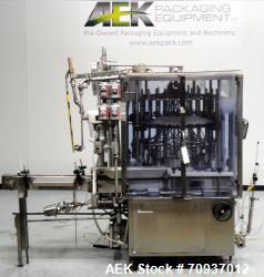 Used- US Bottlers Model VA-28 Rotary Vacuum Liquid Filler